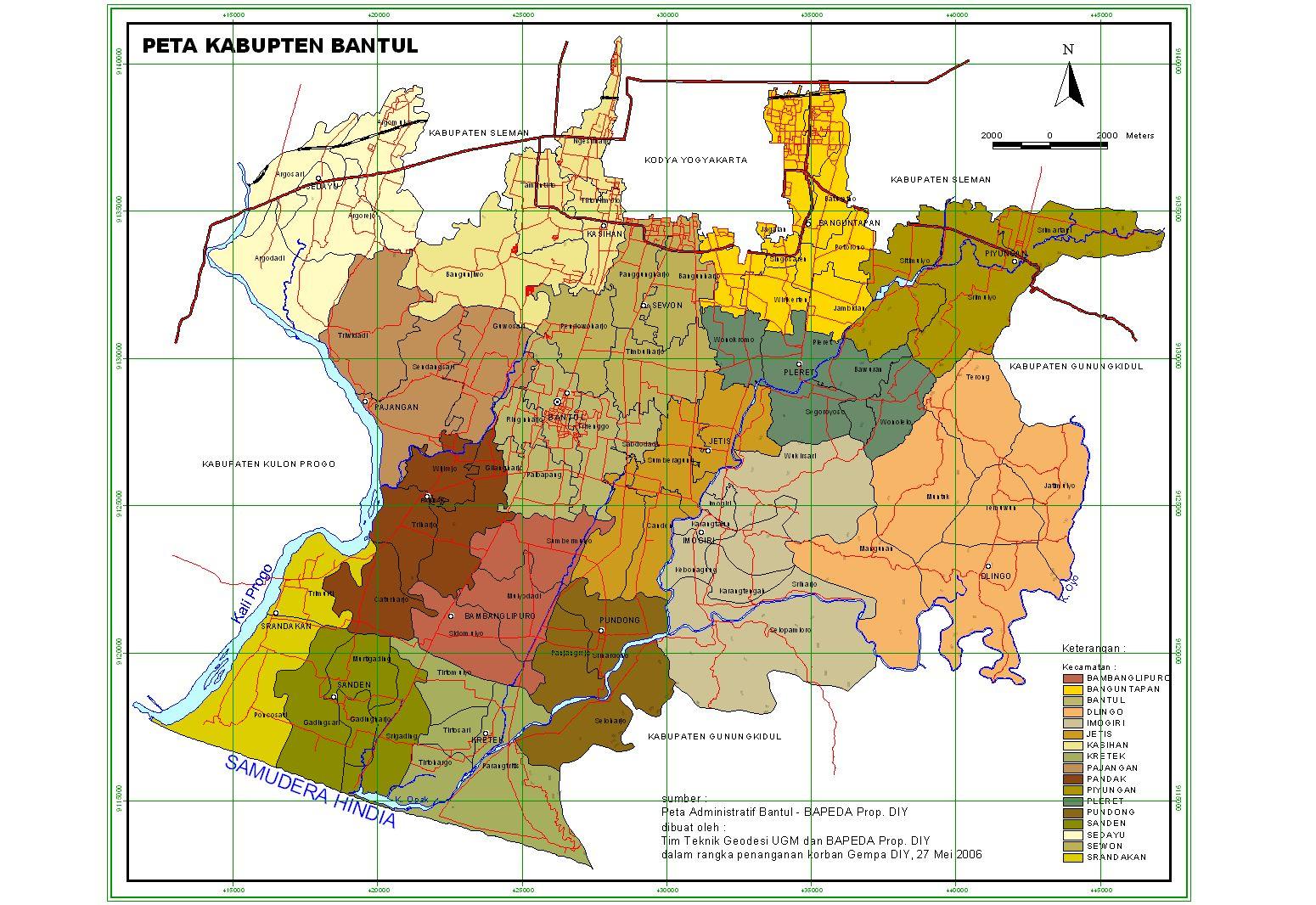 Peta Kota: Peta Kabupaten Bantul