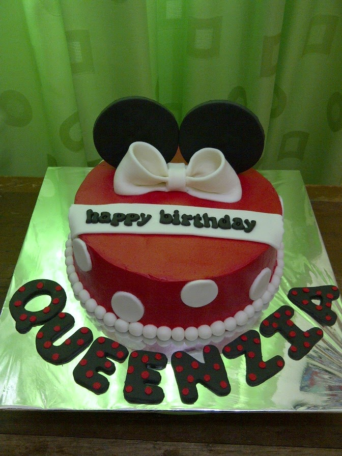 Warungkue Com Mickey Mouse Theme Birthday Cake Queenzia