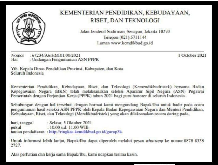 gambar undangan pengumuman hasil seleksi PPPK