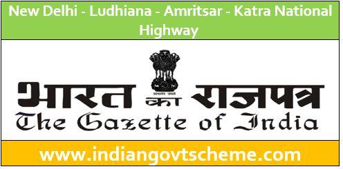 New Delhi Ludhiana Amritsar Katra National Highway