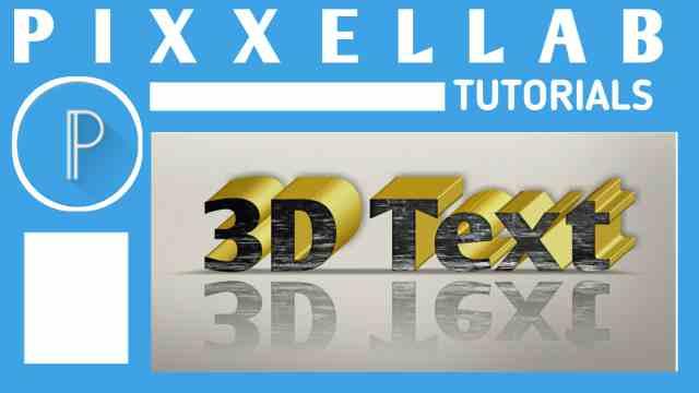 cara menbuat teks 3d di pixellab