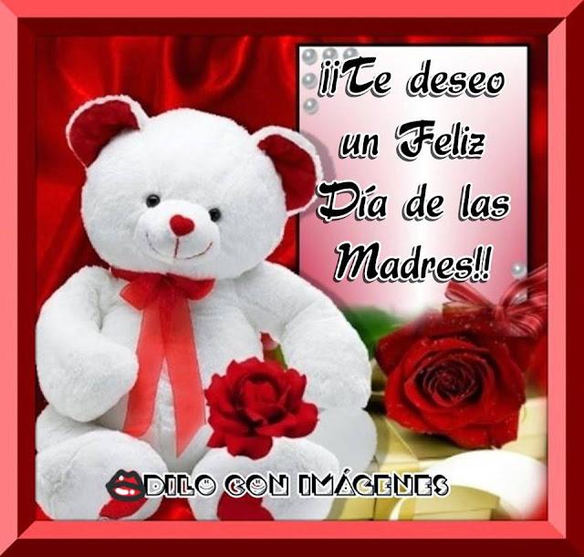 Feliz día de la madre, imagen para las amigas de Facebook   osito te deseo feliz día de las mdres