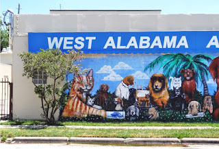 Cats and Dogs Mural at West Alabama Animal Clinic