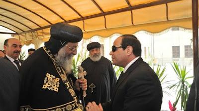 عبد الفتاح السيسي والبابا - أرشيفية