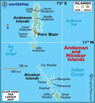 New Andaman and Nicobar Map