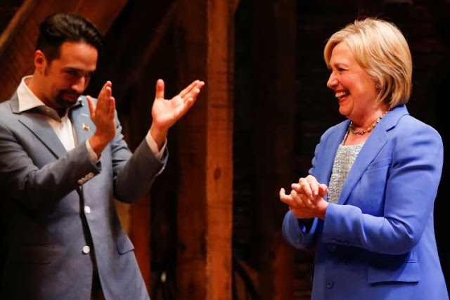 Lin Manuel Miranda and Hillary Clinton