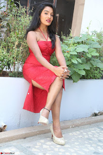Mamatha sizzles in red Gown at Katrina Karina Madhyalo Kamal Haasan movie Launch event 045.JPG