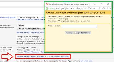 Ajouter un compte POP3 sur Gmail
