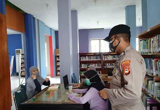 Sat Binmas Polres Enrekang Sambangi Dinas Perpustakaan , Ini yang Disampaikan