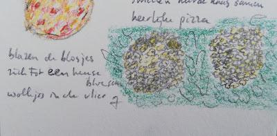 Vlierbloesem tekening met haiku