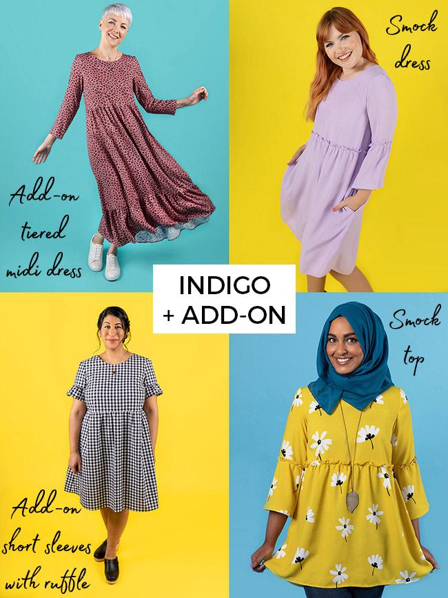 Indigo and add-on pattern bundle
