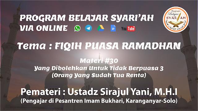 Belajar Ilmu Syar'i Online