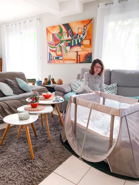 lit parapluie aeromoov vacances d'appoint bébé matériel valise melogommette