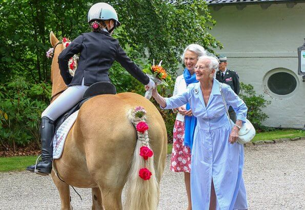 Queen Margrethe, Princess Benedikte, Princess Alexandra and Count Michael Preben Ahlefeldt-Laurvig-Bille