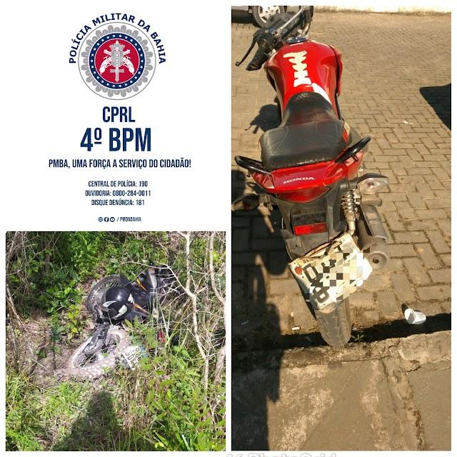 Policiais do Quarto Batalhão recuperam duas motocicletas roubadas