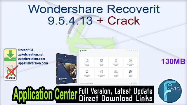 Wondershare Recoverit 9.5.4.13 + Crack