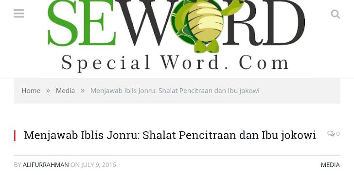 Menjawab Situs Seword.com Tentang Shalat Jokowi