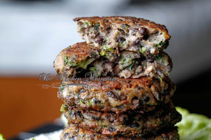 Chunky Portabella Veggìe Burgers