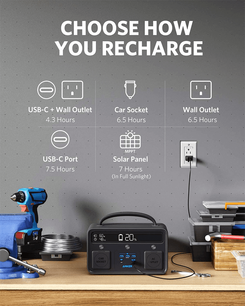 With up to 300W wall charger