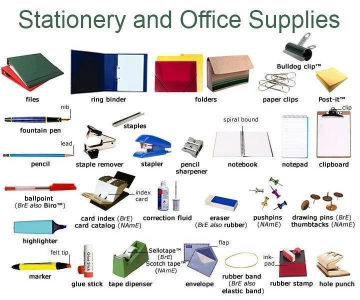 Click on stationery for school office for Bureau pronounce