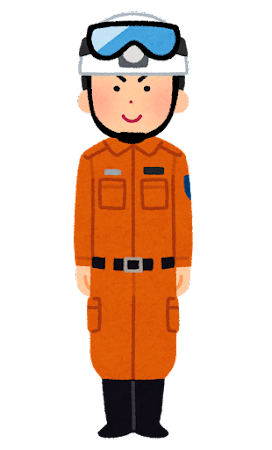 救助服を着た消防士のイラスト