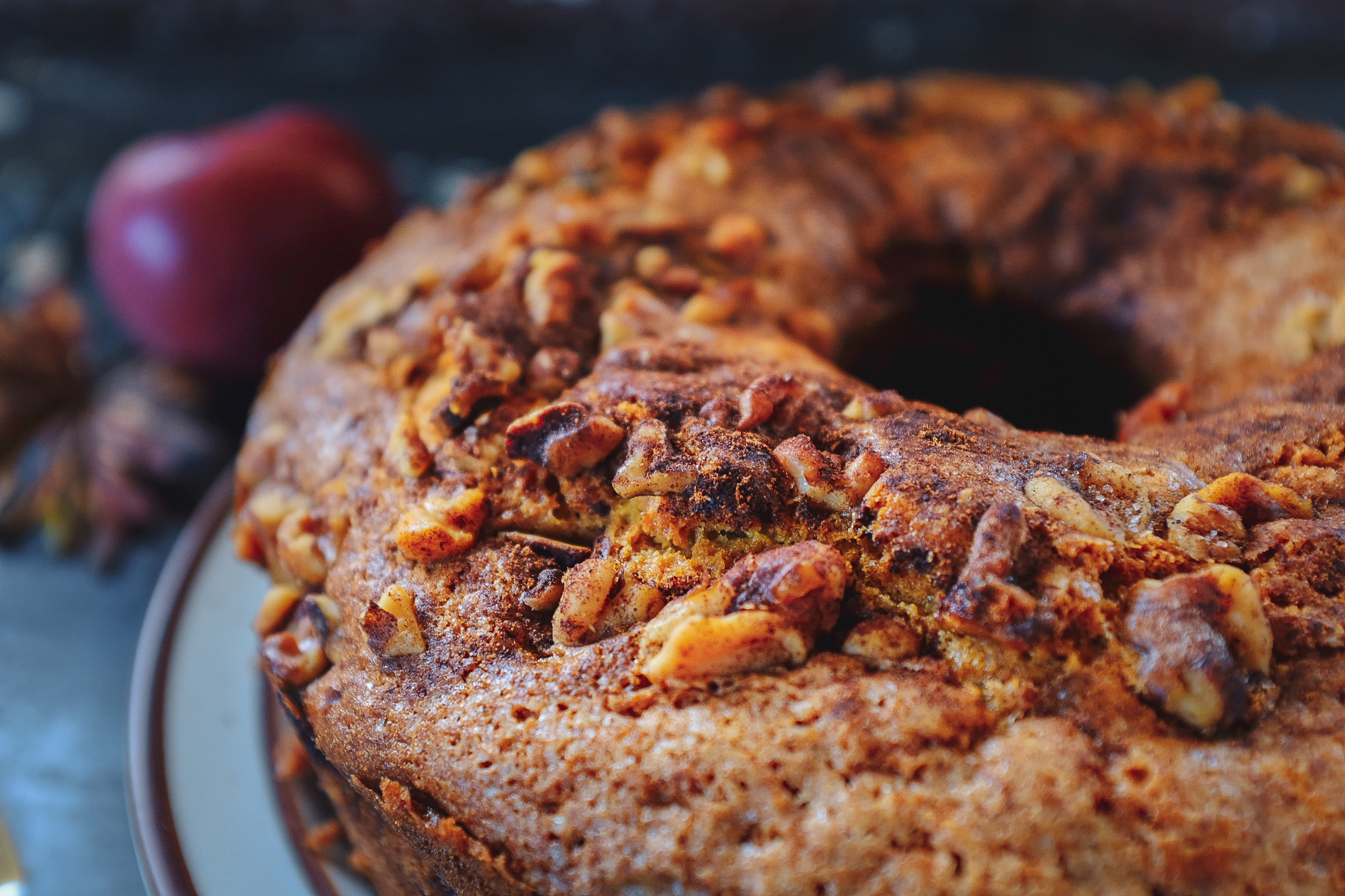 Maple Apple Cake with Walnuts