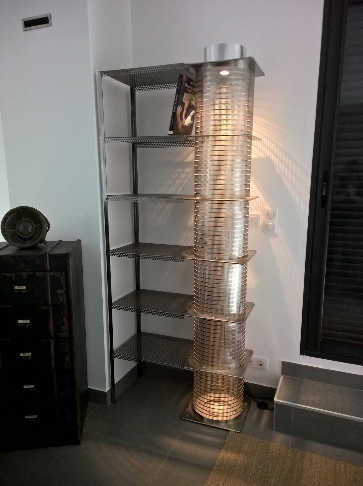 l 39 atelier de philippe biblioth que luminaire industrielle. Black Bedroom Furniture Sets. Home Design Ideas