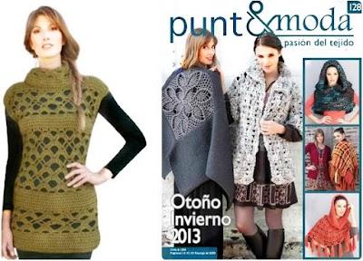 Revista punto-moda número 128 ganchillo-tricot