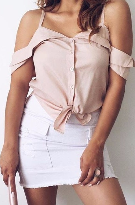 Blush vibes 💘 The Coincidence Top x Deadline skirt is perfection