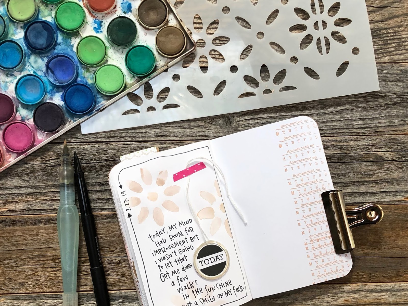 #travelers notebook #gratitude journal #today #printable #watercolor #ilovethursdaythanks #Thankful Thursday #gratitude #gratefulness #thankfulness