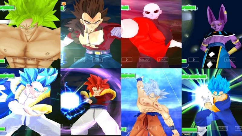 PSP Game DBZ TTT Mod Version Latino ISO With New Goku Ultra Instinct