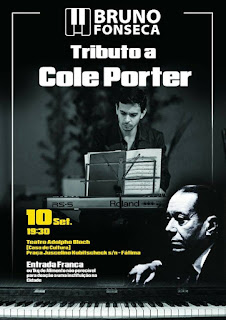 Tributo à Cole Porte com Bruno Fonseca dia 10/09/16 na Casa de Cultura Adolpho Bloch Teresópolis RJ