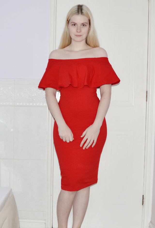 manners-ldn-red-off-the-shoulder-dress-sunset-desires