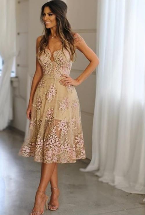vestido de festa renda curto