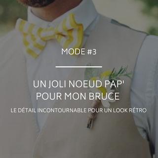 Noeud papillon pour le marié le détail rétro blog mariage un jour mon prince viendra 26