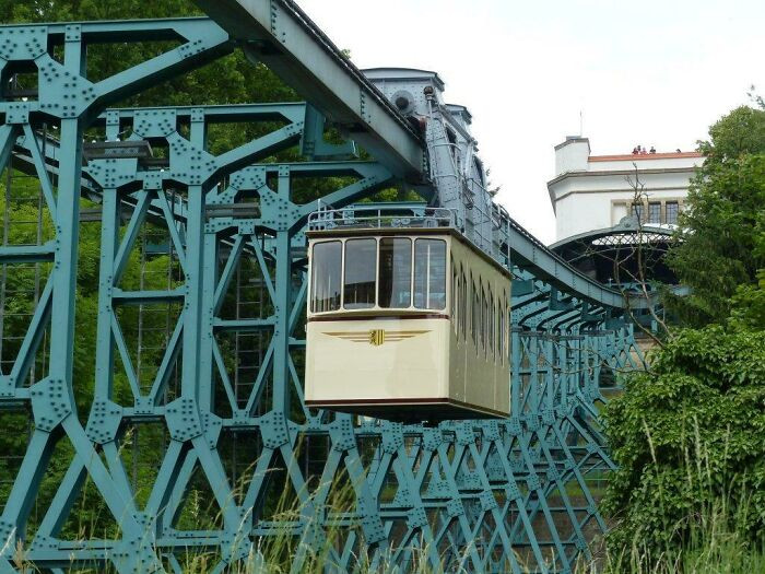 The Dresden Suspension Railway is the second-oldest of its kind, dating back to 1901
