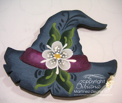 rosemaling witch hat front