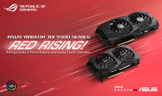 ASUS anuncia novas placas gráficas ROG Strix e Dual Radeon RX 5500 XT Series
