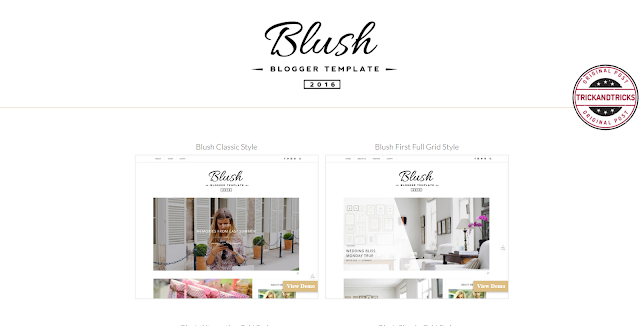 Blush Multi Purpose Premium Blogger Template