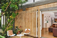 Modern bamboo fence design idea