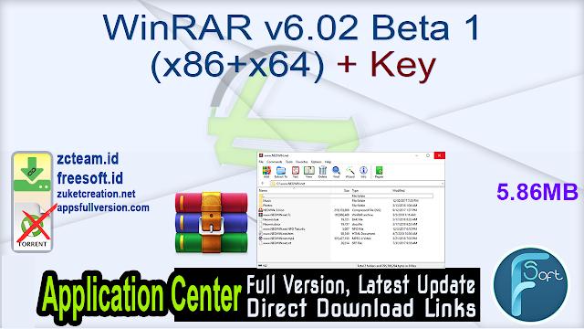 WinRAR v6.02 Beta 1 (x86+x64) + Key_ ZcTeam.id