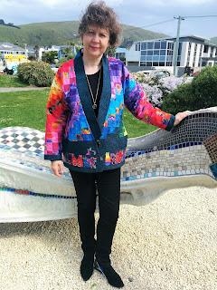 Creates Sew Slow: Outfit of the Day Bargello Quilt Kimono Jacket