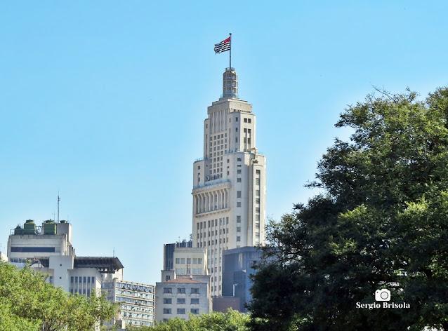 Vista posterior ampla do Edifício Altino Arantes (Banespão) - Centro - São Paulo