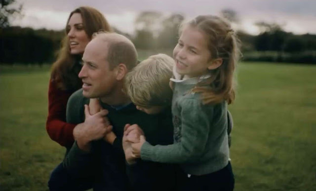 Kate Middleton wore a defence jacket by Barbour, and a maroon jumper by Boden. Prince George, Princess Charlotte and Prince Louis