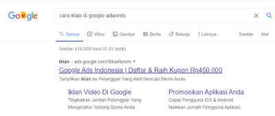 cara iklan di Google Ads