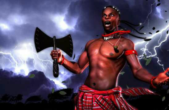 Oriki Sango god of thunder and fire in Yoruba