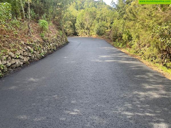 El Cabildo concluye el asfaltado de la carretera que une Gallegos con Las Mimbreras
