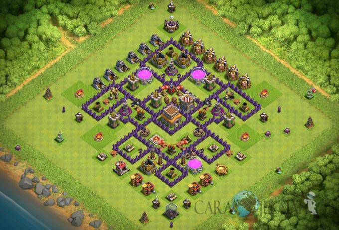 Base Trophy TH 8 di Clash Of Clans Terbaru Tipe 12