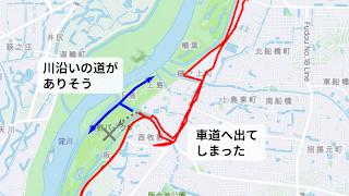 穂谷川との合流地点マップ