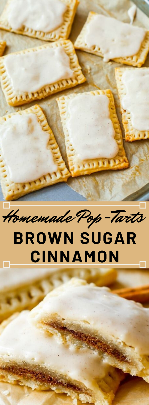 Homemade Frosted Brown Sugar Cinnamon Pop Tarts #desserts #cakes #pumpkin #bars #snack